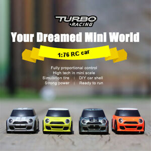 Turbo Racing 1:76 Mini RC Car 2.4GHZ 2WD Remote Control Vehicles Model Kids Toys