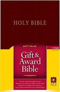 NLT Gift And Award Bible, Burgundy