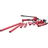 Strongway Hydraulic Portable Ram Kit - 10-Ton Capacity, 16 Pieces