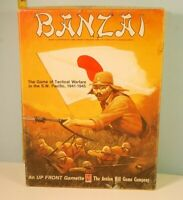 Banzai Expansion to Up Front Avalon Hill 1984 Gamette Game Complete