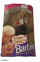 Barbie Teen Talk Doll 1991 Special Edition Blonde Hair #5745 Sounds Untested B4