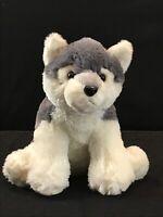 "Aurora Destination Nation Wolf Husky Dog Soft Plush Stuffed Animal Doll Toy 12"""