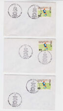italy 1969 three EU cup,covers,different cancel.           n866