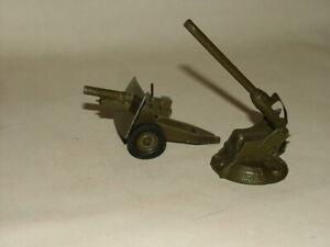 BRITAINS MILITARY TOYS 52mm - 54mm DIECAST No.1715 ANTI AIRCRAFT GUN & HOWITZER
