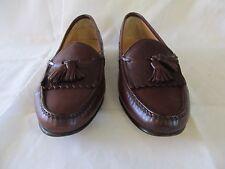 Men's Salvatore Ferragamo designer brown leather kiltie tassel loafers sz 10D