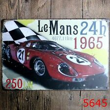 Metal Tin Sign le mans 24h 1965 Bar Pub Home Vintage Retro Poster Cafe ART