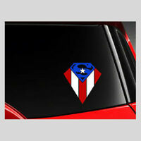 Superman Puerto Rico Car Decal sticker 4""