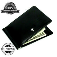 Mens MontBlanc Wallet Black Soft Leather Meisterstuck With Money Clip Mont Blanc