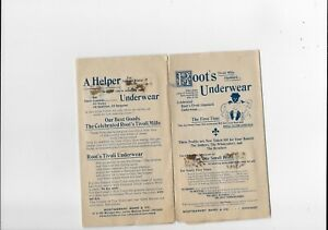 Early  AD   Roots UNDERWEAR TIVOLI MILLS UNDERGARMENT Montgomery Wark & Co