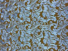 """Blue Ashlee Floral 2 Way Stretch Nylon Mesh Embroidered Lace Fabric - BTY - 52"""""""