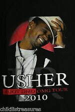 USHER 2010 OMG tour sz S concert T-SHIRT FREE SHIPPING