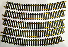 Vintage ATLAS 18 Inch Radius Curved Snap Track Brass HO Scale MINT RARE LOT 5