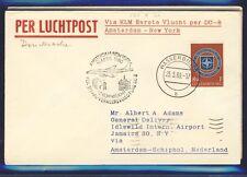 45589) KLM FF Amsterdam - New York 16.4.60, cover Brf ab Luxemburg EF NATO