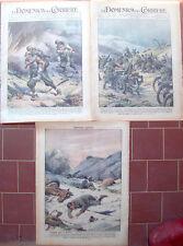 1941 GUERRA ITALIANA SUL FRONTE ALBANESE EROISMO CARABINIERI GENOVA BERSAGLIERI