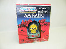 MOTU HE-MAN SKELETOR RADIO RARO Nasta 1985 MASTERS OF THE UNIVERSE MATTEL OVP