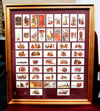 Vintage FIREMAN FIREFIGHTING APPARATUS Framed Trade Cards 2nd issue FULL SET