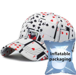 Fashion Cool Poker Hip Hop Adjustable Cap Sport Baseball Snapback Playing Cards