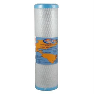 """Omnipure 834  - 9' x 2.5"""" 1 Micron Carbon Water Filter Cartridge"""