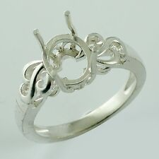 Semi Mount 7x9 MM Cocktail Ring Oval Shape 925 Sterling Silver Occasion Jewelry