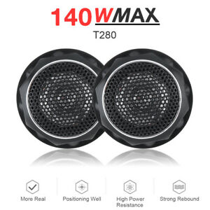 2PCS T280 12V 140W High Efficiency Tweeter Speakers Set for Car Audio System