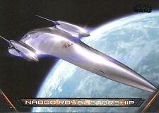 Star Wars Galactic Files Reborn Vehicles Chase Card V-11 Naboo Royal Starship