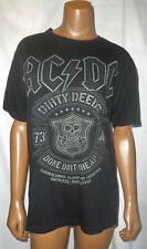 Vtg AC/DC Rock Band Music T-Shirt,Dirty Deeds Done Dirt Cheap,TNT,Black,Skull,S