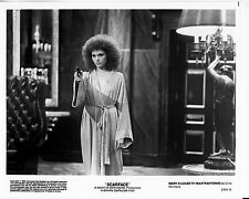 SCARFACE original 1983 STUDIO 8x10 authentic MARY ELIZABETH MASTRANTONIO W/ GUN