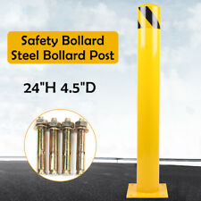 """New listing Safety Bollard Post traffic road pile Steel Barrier 24""""H 4.5""""D wall parking lot"""