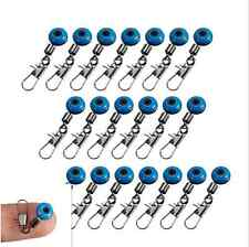 20Pcs/Lot Blue Fishing Line to Hook Swivels Shank Clip Connector Accessories New
