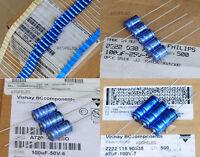 4pcs Philips VISHAY BC LL Axial Hi-Fi Capacitor 4.7uF/10uF/22uF/47uF/100uF/220uF