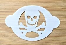 Face paint stencil reusable washable Pirate skull and cross bones 190 Mylar
