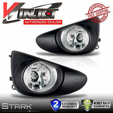 2012-2014 Yaris Fog Lights 2DR / 4DR Front Lamps w/ Wiring Kit - PAIR