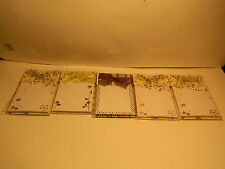 5 packs of Ribbon Memo Pads with 60 Sheets each   NEW