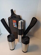 Picnic Plus Coffee Companion Travel Mugs, Thermos Bottle Coffe Set with CarryAll