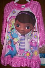 Doc McStuffins L/S Nightgown Girl's 3T NeW Pajamas Pjs Stuffy Disney NWT