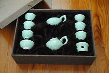 Imitation Dynasty Imperial Noble Tea Set Collection in Flower Celadon Green