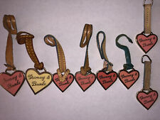 DOONEY & BOURKE Large & Small Heart & Leather Fob  Lot of 8