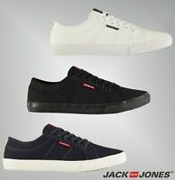Mens Branded Jack And Jones Stylish Lace Ross Canvas Trainers Footwear Size 7-11