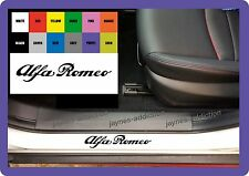 For ALFA ROMEO - 4 x Door Sill CAR DECAL STICKER ADHESIVE MITO BRERA 150mm long