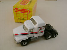1989 MATCHBOX SUPERFAST MB 8 WHITE MACK CH-600 TRACTOR NEW IN BOX