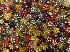 500 pcs Assorted Rhinestone Star Shaped Diamonettes Plastic Craft Jewelry Beads