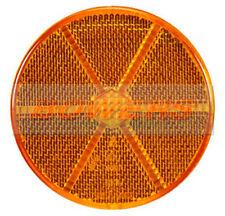 AMBRA Arancione Bastone rotondo nel lato adesivo Riflettore 85mm Camion Rimorchio Caravan