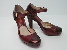 KORS MICHAEL KORS RED PATENT LEATHER PUMPS WEDGE HEELS SIZE WOMEN'S 6.5 M