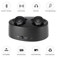 Waterproof Mini True Wireless Headset Bluetooth Earbuds Earphone HiFi Stereo