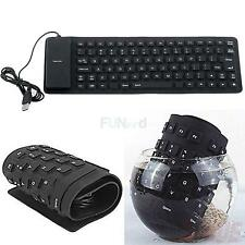Flexible Silicone Foldable 2.0 USB Mini Keyboard for Laptop Notebook PC New