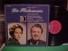 HERBERT VON KARAJAN LP DIE FLEDERMAUS JOHANN STRAUB STEREO NEAR MINT GERMAN