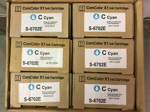 x1 Riso Ink Original S-6702E - CYAN - ComColor 3110 / 3150 NEW & OVP !!!