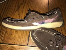 Sperry Top Sider Women's Boat Shoe Plaid Shoes Leather Canvas Size 6.5