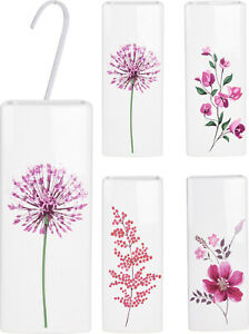 2 x White Floral Ceramic Radiator Hanging Humidifiers Dry Air Humidity Control