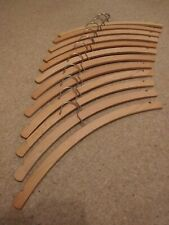 12 Beech wood crescent coat hangers with skirt notches